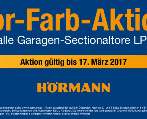 HÖRMANN Garagentor-Farbaktion